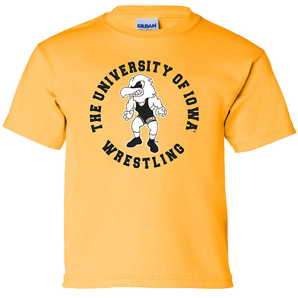 Iowa Hawkeyes Youth Wrestling Circle Tee