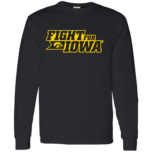 Iowa Hawkeyes Fight for Iowa Long Sleeve Tee