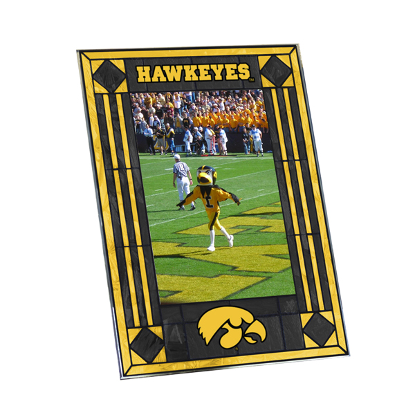 Iowa Hawkeyes Glass Art Picture Frame