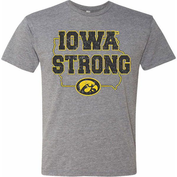 Iowa Hawkeyes Iowa Strong Grey Tee - Short Sleeve