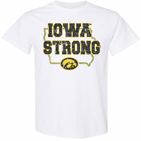 Iowa Hawkeyes Iowa Strong White Tee - Short Sleeve
