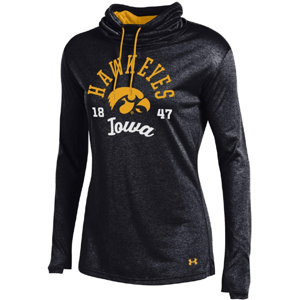 Iowa Hawkeyes Women's Grainy Tech Cowl Top
