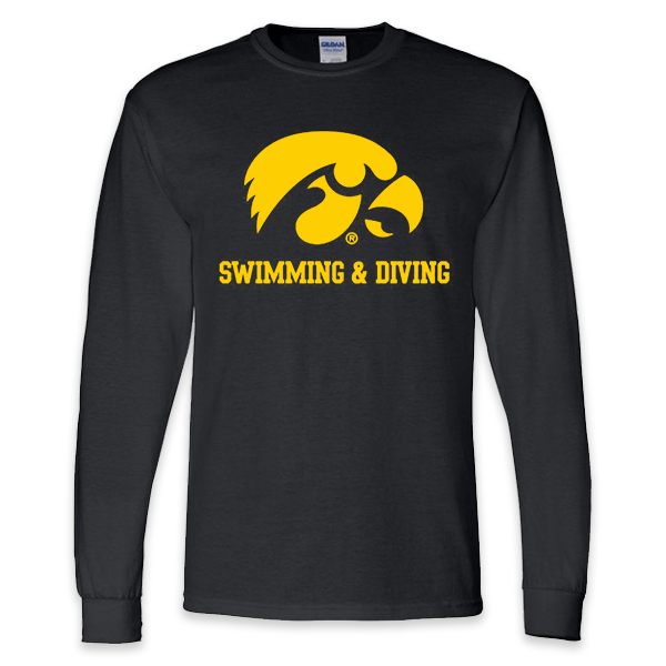 Iowa Hawkeyes Swimming and Diving Long Sleeve Tee