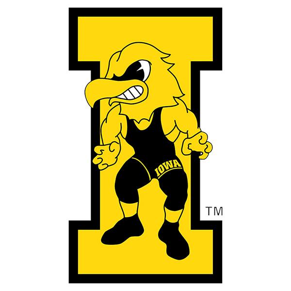 Iowa Hawkeyes Vintage Wrestling Herky Decal-Color :: University Of ...