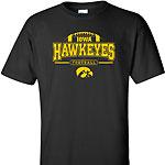Iowa Hawkeye FB Outline Arch Tee - Black