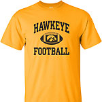 Iowa Hawkeye FB Basic Arch Tee - Gold