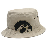 Iowa Hawkeyes Bucket Cap-Khaki