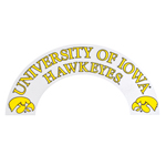 Iowa Hawkeyes Clear Arch Decal