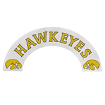 Iowa Hawkeyes Chrome Arch Decal