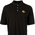 Iowa Hawkeyes Classic Pique Polo - Black