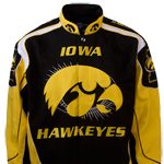 Iowa Hawkeyes Logo Racing Jacket