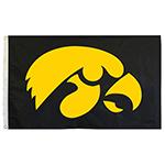 Iowa Hawkeyes 3' x 5' Tigerhawk Flag-Black