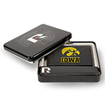 Iowa Hawkeyes Leather 3 Fold Wallet Gift Set