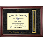 University of Iowa Diploma Frame  With Tassel
