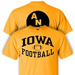 Iowa Hawkeyes America Needs Farmers Football Tee - Gold