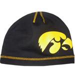 Iowa Hawkeyes Black Jersey Knit Hat