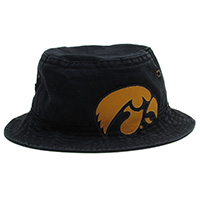 Iowa Hawkeyes Bucket Cap-Black