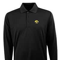 Iowa Hawkeyes Exceed Long Sleeve Polo