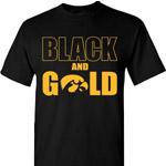Iowa Hawkeyes Black & Gold Tee - Black
