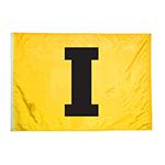 """Iowa Hawkeyes 2' x 3' """"I"""" Flag-Gold"""