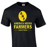 Iowa Hawkeyes ANF Farm Strong Tee - Black