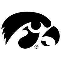 Iowa Hawkeyes Decal-Black