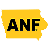 Iowa Hawkeyes ANF State Map Decal-Gold