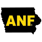 Iowa Hawkeyes ANF State Map Decal-Black