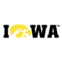"Iowa Hawkeyes ""Hawkeye for O"" Decal-Black"