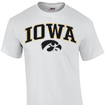 Iowa Hawkeyes Arch Logo Tee-White