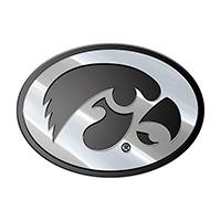 Iowa Hawkeyes Metal Auto Emblem