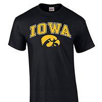 Iowa Hawkeyes Arch Logo Tee
