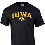 Iowa Hawkeyes Youth Arch Logo Tee-Black