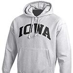 Iowa Hawkeyes Weave Hoody-Silver