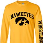 Iowa Hawkeyes Wrestling Arch Logo Gold Tee