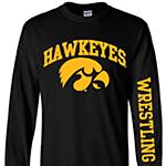 Iowa Hawkeyes Wrestling Arch Logo Black Tee