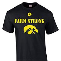 Iowa Hawkeyes Farm Strong Tee-Black