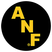 "Iowa Hawkeyes ANF 5"" Black Decal"