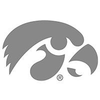 Iowa Hawkeyes Decal-Chrome