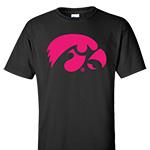Iowa Hawkeyes Value Tee-Black/Pink