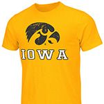 Iowa Hawkeyes Campus Tee-Gold