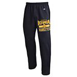 Iowa Hawkeyes Open Bottom Pants-Black