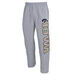 Iowa Hawkeyes Open Bottom Pants-Grey