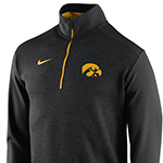 Iowa Hawkeyes 1/2 Zip Coaches Top