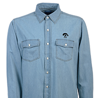 Iowa Hawkeyes Chambray Long Sleeve Top