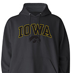 Iowa Hawkeyes Mascot Hoody-Charcoal