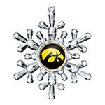 Iowa Hawkeyes Snowflake Ornament