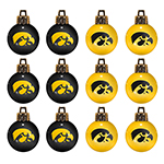 Iowa Hawkeyes Ornaments-12 Pack