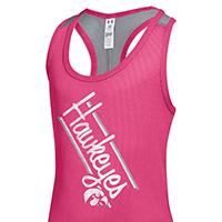 Iowa Hawkeyes Girls Victory Tank-Pink