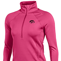 Iowa Hawkeyes Women's Verve 1/2 Zip Top-Pink